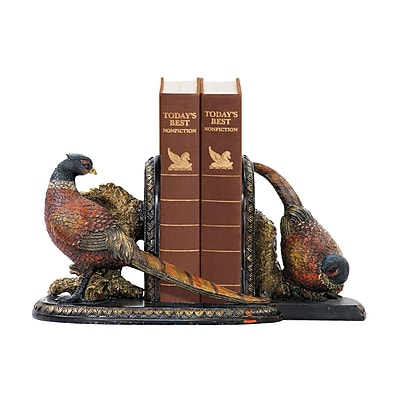 Sterling Industries 58291-37229 Set of 2 Autumn Pheasants Decorative Bookends, Multi