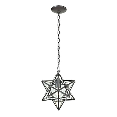 Sterling Industries Star 582145-009 1 Light Lantern Pendant, Clear