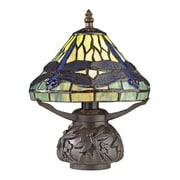 """Dimond Lighting Flintwick 582D25389 11"""" Incandescent Table Lamp, Dark Bronze"""