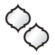 "Sterling Industries 58260506799 21""H x 23""W Horizonte Novelty Wall Mirror, Set of 2"