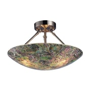 "Elk Lighting Avalon 582730-39 11"" 3 Light Semi Flush Mount"