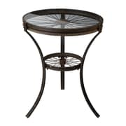 Sterling Industries 582129 Glass Side Table, Black, Each (582129-10119)