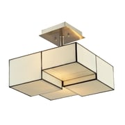 "Elk Lighting Cubist 58272061 11"" 2 Light Semi Flush Mount, Brushed Nickel"