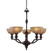 """Elk Lighting Norwich 58266197-59 20"""" 5 Light Chandelier, Oiled Bronze"""