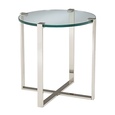 Sterling Industries Uptown Glass End Table, Clear, Each (58260410319)