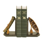 Sterling Industries 58291-46199 Set of 2 Camp Woebegone Decorative Bookends, Brown/Green