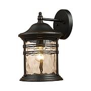 "Elk Lighting Madison 58208161-MBG9 11"" x 7"" 1 Light Outdoor Sconce, Matte Black"