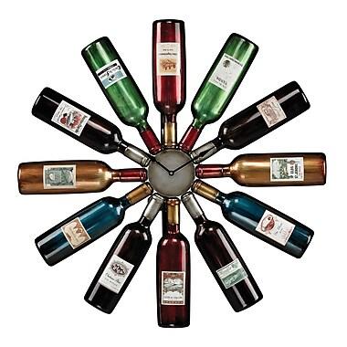 Sterling Industries 58251-100859 Wine Bottle Wall Clock, Beige Face