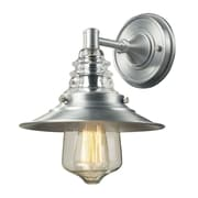 "Elk Lighting Insulator Glass 58266700-19 12"" x 9"" 1 Light Wall Sconce, Brushed Aluminum"