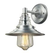 "Elk Lighting Insulator Glass 58266700-19 12"" x 9"" 1 Light Wall Sconce, Brushed Aluminum"