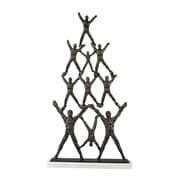 "Sterling Industries 582148-0209 20"" Troupe Sculpture, Bronze"