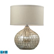 """Dimond Lighting Canaan 582D2264-LED9 25"""" Table Lamp, Cream Pearl"""