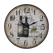 Sterling Industries 582118-0329 French Wine Bottles Wall Clock, Beige Face