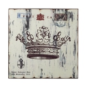 "Sterling Industries ""Crown Print Wood"" Framed Wall Art, 16""H x 16""W"