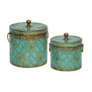Sterling Industries 58251-30269 Blue Metal Box, Set of 2