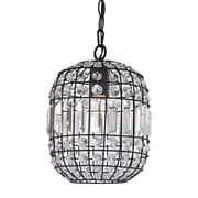 "Sterling Industries Maldon 582122-0139 11"" 1 Light Chandelier, Dark Bronze with Clear Crystal"
