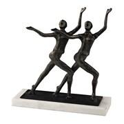 "Sterling Industries 582148-0169 9"" Chorus Line Sculpture, Bronze/White"