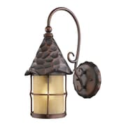 "Elk Lighting Rustica 582385-AC9 19"" x 10"" 1 Light Armed Sconce, Antique Copper"