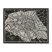 "Sterling Industries ""Laser Cut Map Of Paris Circa"" Wall Decor, 34""H x 43""W"
