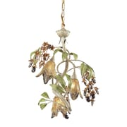 "Elk Lighting Huarco 582860519 19"" 3 Light Mini Chandelier, Seashell"