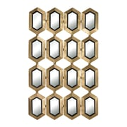 """Sterling Industries 582132-0089 40""""H x 24""""W Donaskeigh Honeycomb Rectangle Wall Mirror"""