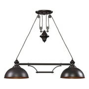 "Elk Lighting Farmhouse 58265150-29 11"" 2 Light Island, Oiled Bronze"