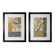 """Sterling Industries """"Avian Ornament I and II - Set of 2"""" Framed Wall Art, 36""""H x 28""""W"""
