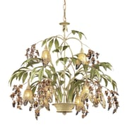 "Elk Lighting Huarco 582860549 24"" 8 Light Chandelier, Seashell"