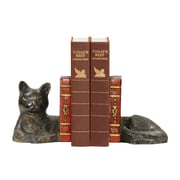 Sterling Industries 58293-50839 Set of 2 Cat Napping Decorative Bookends, Brown