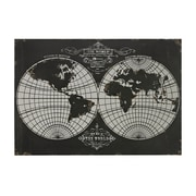 "Sterling Industries 58251-101189 ""World Map - Laser Cut Map Of The Globe"" Wall Decor, 28""H x 39""W"