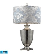 "Dimond Lighting Langham 582D2248P-LED9 31"" Table Lamp, Antique Mercury/Polished Chrome"