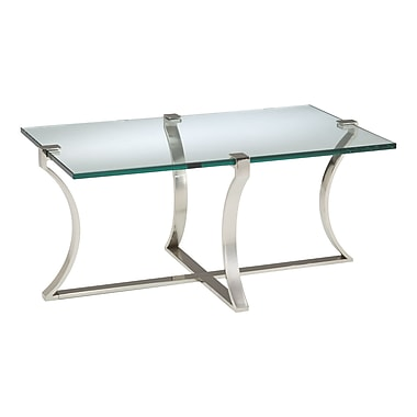Sterling Industries Acrylic Glass Glass Coffee Table, Clear Glass, Each (58260412079)