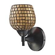 """Elk Lighting Celina 210150-1DR-GLD9 9"""" x 6"""" 1 Light Armed Sconce, Gold Shade"""