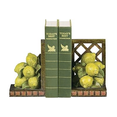 Sterling Industries 58293-56239 Set of 2 Lemon Orchard Decorative Bookends, Yellow