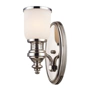"Elk Lighting Chadwick 58266110-1 13"" x 5"" 1 Light Wall Sconce, Polished Nickel"
