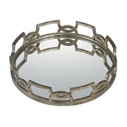 Sterling Industries 582114-899 Iron Scroll Accent Tray, Antique Silver