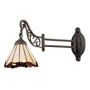 "Elk Lighting Mix-N-Match 582079-TB-039 12"" x 7"" 1 Light Swingarm Sconce, Tiffany Bronze"
