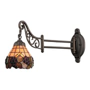 "Elk Lighting Mix-N-Match 582079-TB-079 12"" x 7"" 1 Light Swingarm Sconce, Tiffany Bronze"