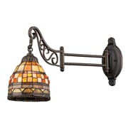 "Elk Lighting Mix-N-Match 582079-TB-109 12"" x 7"" 1 Light Swingarm Sconce, Tiffany Bronze"