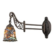 "Elk Lighting Mix-N-Match 582079-TB-129 12"" x 7"" 1 Light Swingarm Sconce, Tiffany Bronze"