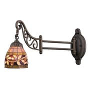 "Elk Lighting Mix-N-Match 582079-TB-139 12"" x 7"" 1 Light Swingarm Sconce, Tiffany Bronze"