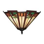 "Elk Lighting Oak Bridge 58270115-29 9"" x 15"" 2 Light Wall Sconce, Tiffany Bronze"