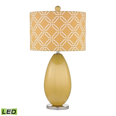 "Dimond Lighting Sevenoakes 582D2498-LED9 25"" Table Lamp, Sunshine Yellow"