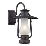 "Elk Lighting Chapman 58265004-19 16"" x 12"" 1 Light Wall Sconce, Matte Black"