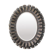 "Sterling Industries 58255-0027M9 39""H x 33""W Ruffled Oval Wall Mirror"