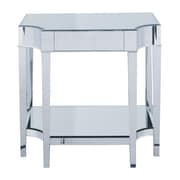 Sterling Industries Cinema Glass Console Table, Silver, Each (58260411629)