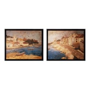 """Sterling Industries """"By The Sea I & II - Set of 2"""" Framed Wall Art, 34""""H x 28""""W"""