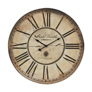 Sterling Industries 582118-0429 Carte Postal Wall Clock, Antique Cream Face