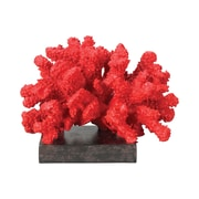 "Sterling Industries 58260-15409 5"" Fire Island Decorative Coral Stand, Black/Red"
