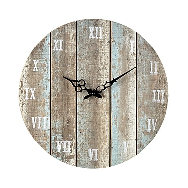 Sterling Industries 582128-10099 Restoration Wooden Wall Clock, Blue/Ivory Face
